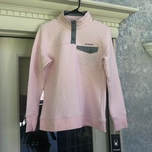 NWT Spyder pink diamond quilted pullover size L